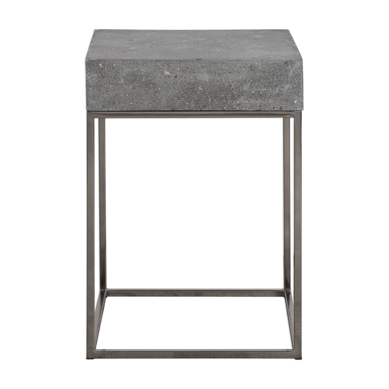 uttermost jude concrete accent table bellacor tables hover zoom antique blue chest with glass doors metal patio chairs wood occasional nautical themed side yellow wall clock