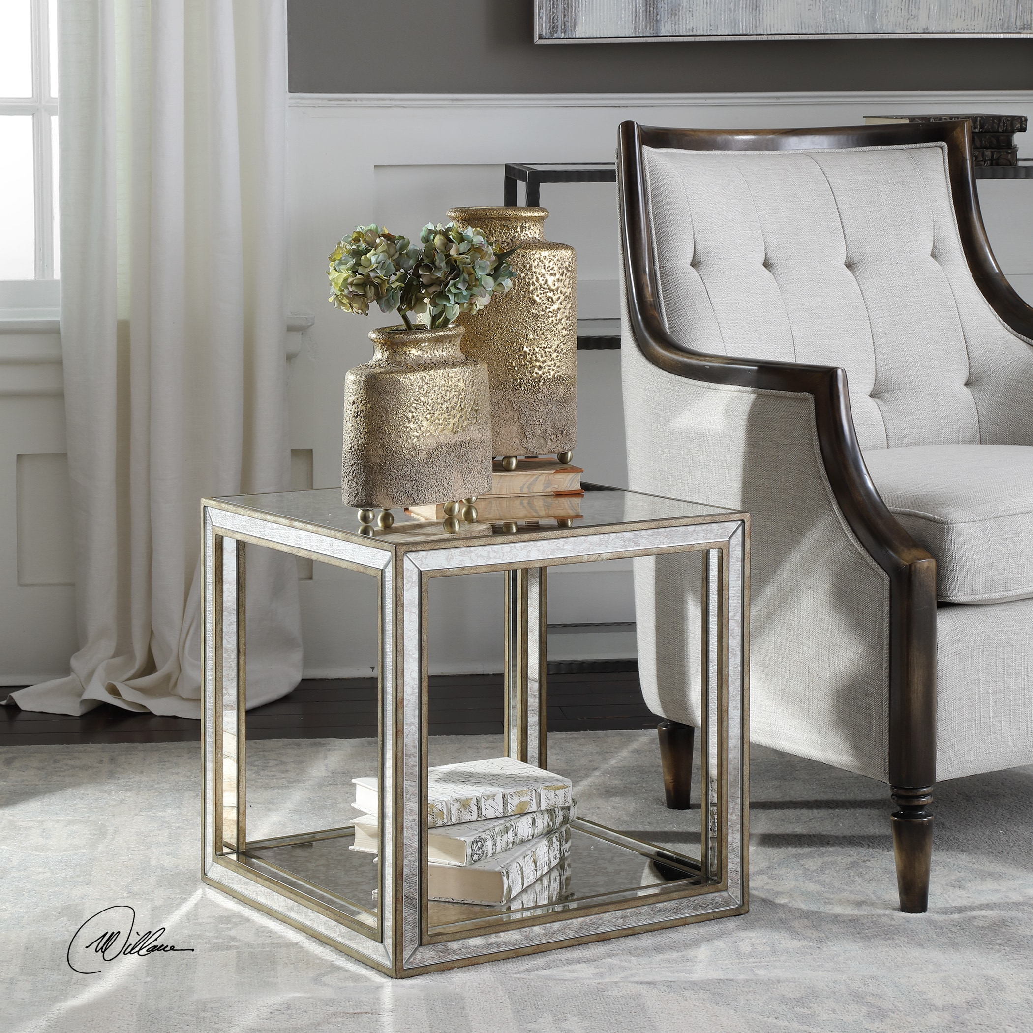 uttermost julie mirrored accent table free shipping today round end tables dog grate kohl rewards coupon solid wood crate modern furniture coffee bathroom vanity cabinets living