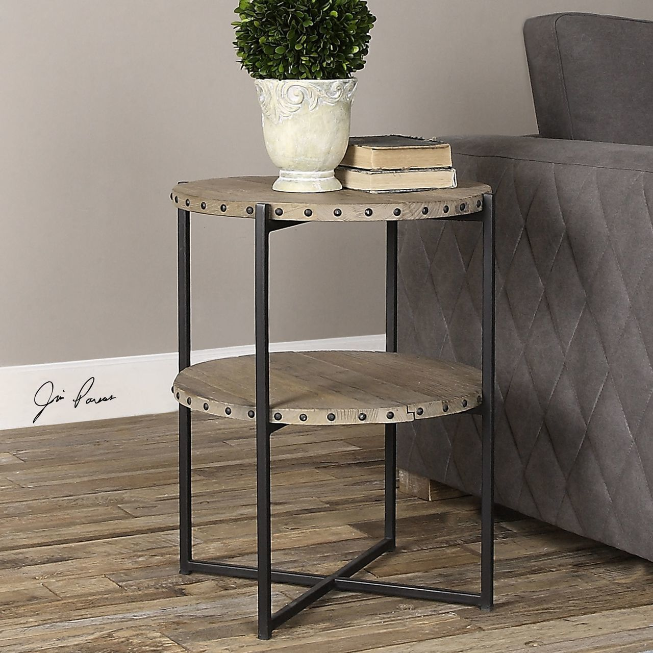 uttermost kamau round accent table rug fashion martel counter height dining rattan side glass top home goods dressers oval marble pennington furniture skinny end ikea cool tables
