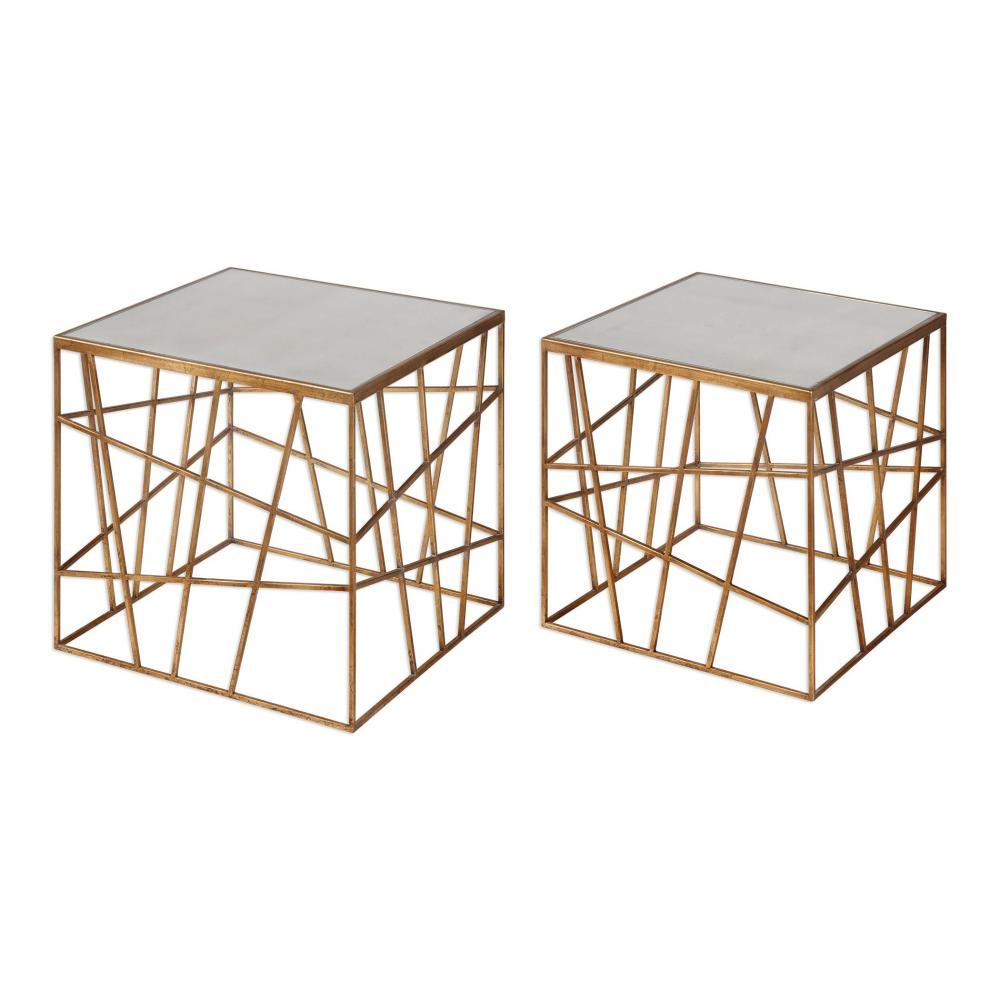 uttermost karkin gold accent tables set sunbelt lighting table plexiglass nesting square glass coffee living room lucite and brass white wicker furniture pier one small folding