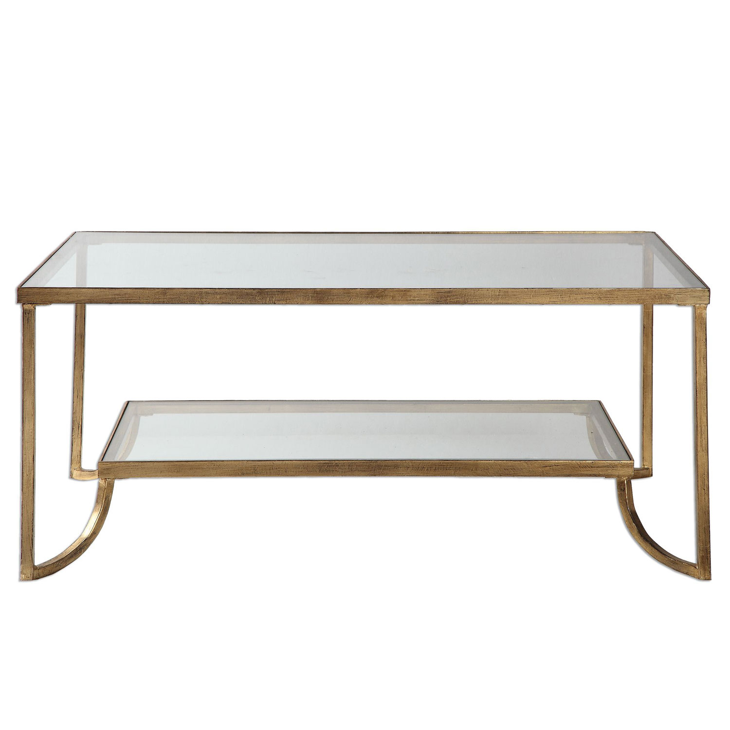 uttermost katina gold leaf coffee table bellacor accent hover zoom modern lamps circular cover ellipsis vanity nautical style floor wood storage cubes ikea distressed entry rope