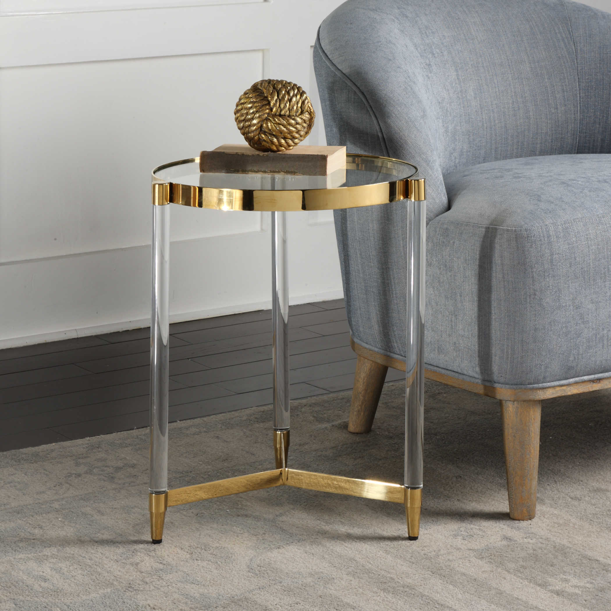 uttermost kellen glass accent table behind couch better homes and gardens coffee antique drop leaf dining runner hallway chest furniture outdoor iron inch nightstand deck set