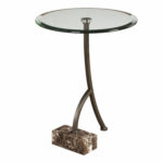 uttermost levi round bronze accent table bellacor pedestal hover zoom yellow umbrella mirror cube nautical themed lamps patio stand target white bedside small metal garden side 150x150