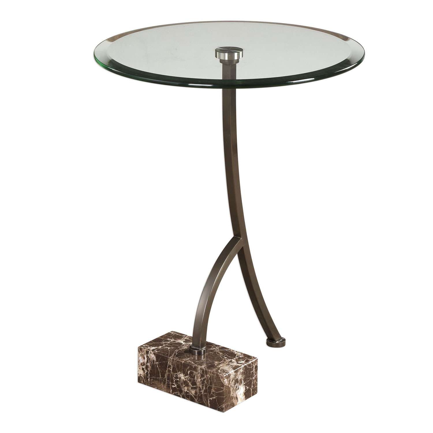 uttermost levi round bronze accent table bellacor pedestal hover zoom yellow umbrella mirror cube nautical themed lamps patio stand target white bedside small metal garden side
