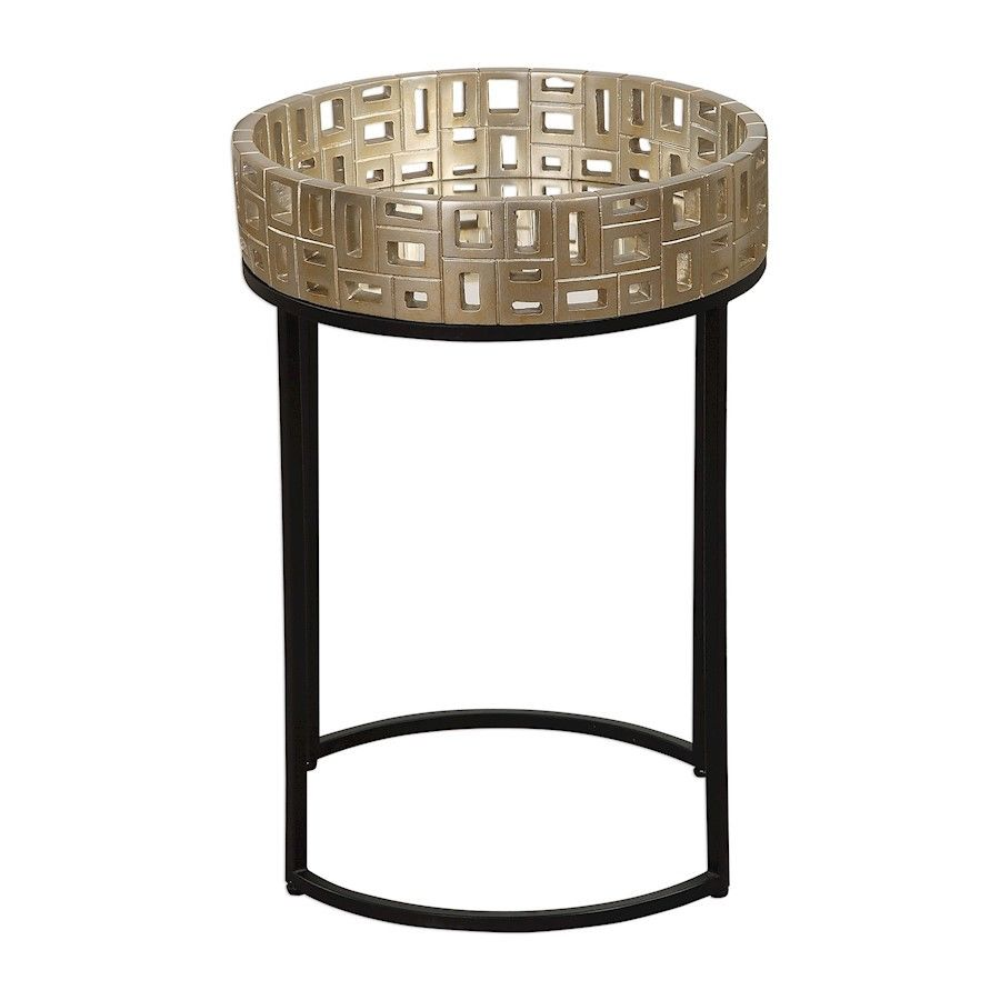 uttermost light gold aven long glass and iron accent table winsome wood cassie with top cappuccino finish stock linen cloth inch tablecloth target vanity wine rack cupboard