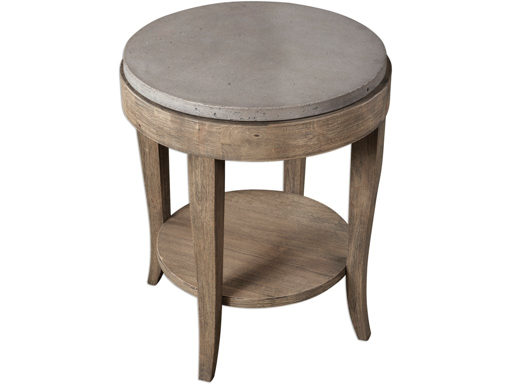 uttermost living room deka round accent table hollberg spring haven collection home goods entryway bench fall tablecloth tufted furniture wicker chair ikea desk very slim console