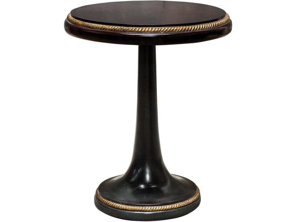 uttermost living room griffith round accent table hollberg kitchen vanity oval linens pub height antique black bedside very slim console glass and iron side outdoor furniture