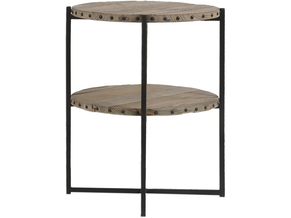 uttermost living room kamau round accent table factory white sliding door beverage cooler side modern mirrored coffee fall tablecloth entry console very large wall clocks antique