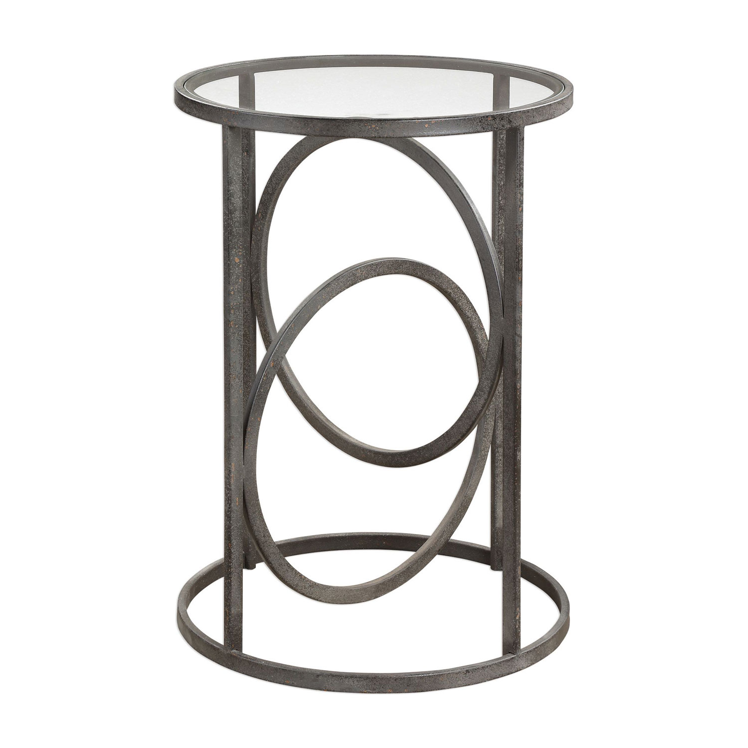uttermost lucien iron accent table bellacor metal outdoor hover zoom small wine console with shelves corner end storage glass coffee brass legs solid wood farmhouse contemporary