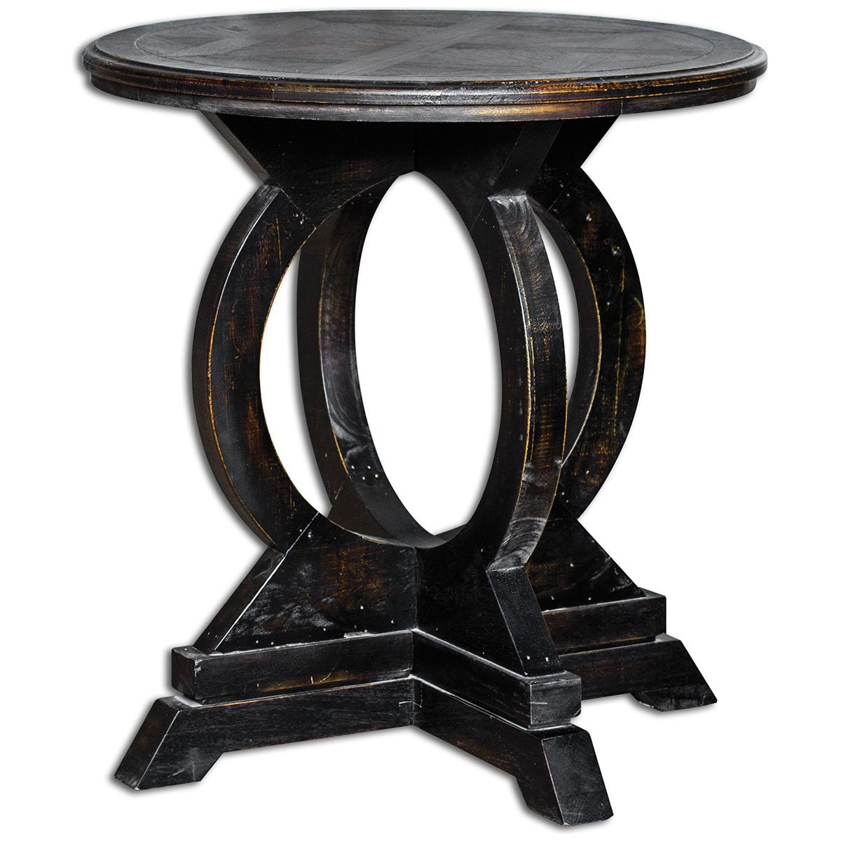 uttermost maiva accent table black kitchen dining tables tory burch cuff bracelet antique mirrored bedside nautical themed side wrought iron glass lamp with storage wood