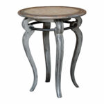 uttermost mariah round gray accent table bellacor hover zoom modern pedestal small console chest double pedal drum black iron bedside grill chef wood coffee with drawers 150x150