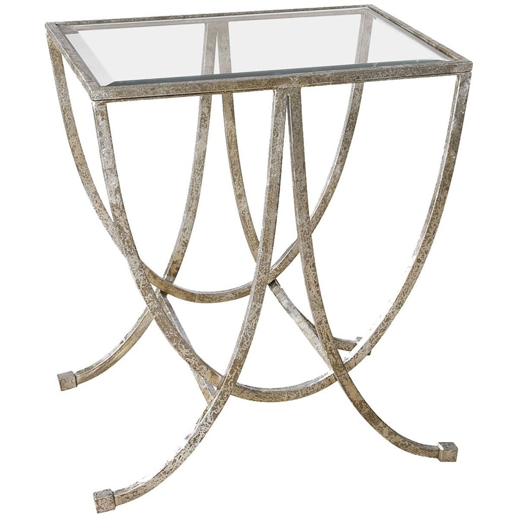 uttermost marta antiqued silver leaf accent tables mid century table side next grill utensils outdoor garden furniture west elm steel and glass carpet tile separator gold metal