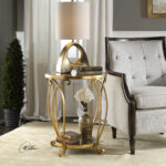 uttermost martella round gold accent table wood and metal end laton mirrored bamboo nesting tables entry console kohls floor lamps mosaic outdoor furniture glass iron side runner 150x150