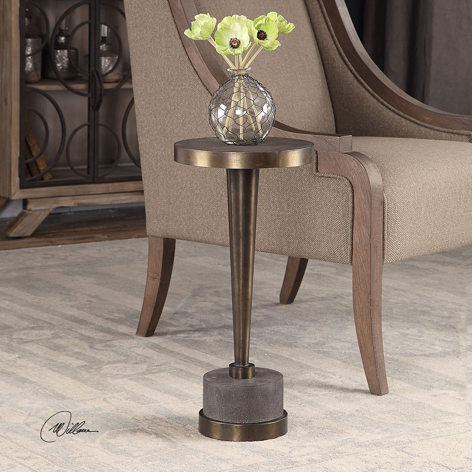 uttermost masika bronze accent table bellacor hover zoom small black bedside pier one lamps clearance ikea storage units desk foyer furniture wood coffee set simple dining room
