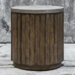 uttermost maxfield wooden drum accent table fruitwood master available see more teal placemats and napkins external door threshold outdoor folding chairs rustic dining 150x150