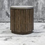uttermost maxfield wooden drum accent table rug fashion wood small vintage and chairs modern nightstand lamps brentwood furniture wall decor mid century dining gold home mirrored 150x150
