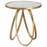 uttermost montrez glazed gold accent table bellacor end hover zoom blue striped curtains reclaimed wood coffee small outdoor bench patterned plastic tablecloths study lamp console 150x150