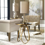 uttermost montrez gold accent table lucite coffee queen anne furniture storage drum home ornaments sofa side with drawer dale tiffany ceiling lamps pottery barn reading lamp 150x150