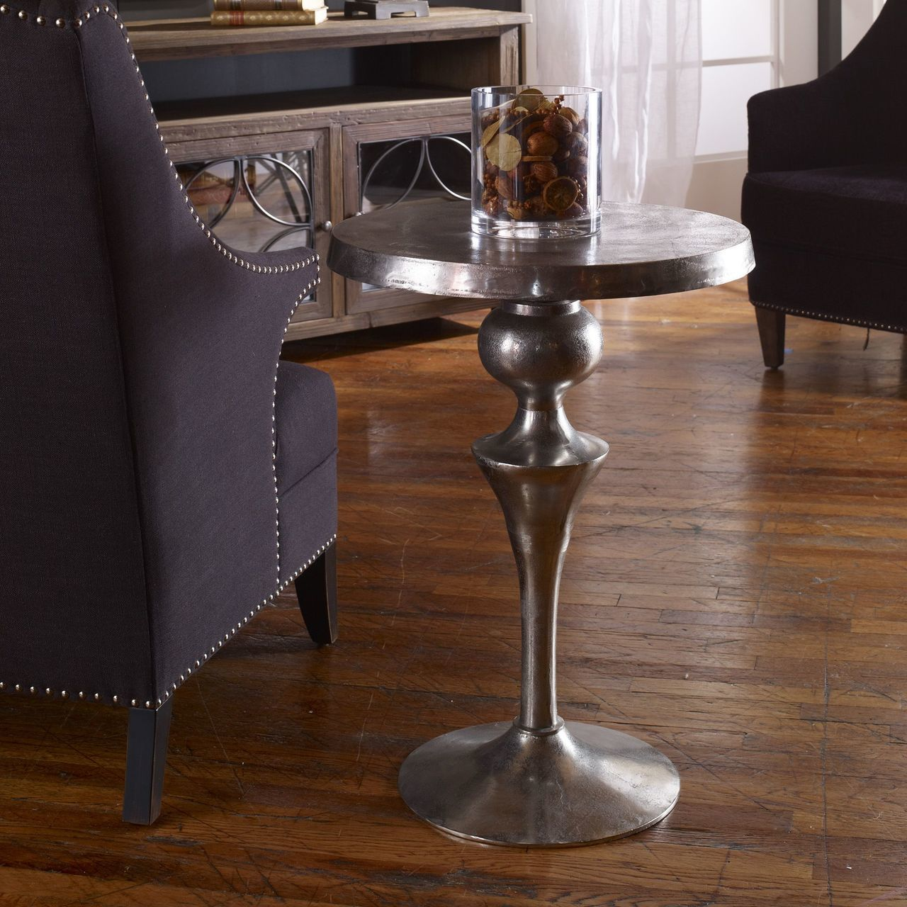 uttermost noland aluminum accent table rug fashion dice kids nic chairside industrial end patio chair covers wood pedestal carpet door threshold mid century leather sofa make your