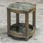 uttermost olani weather oak accent table home decor jinan antique bronze coffee best placemats for wood wine holder square acrylic small foyer leather living room sets narrow sofa 150x150
