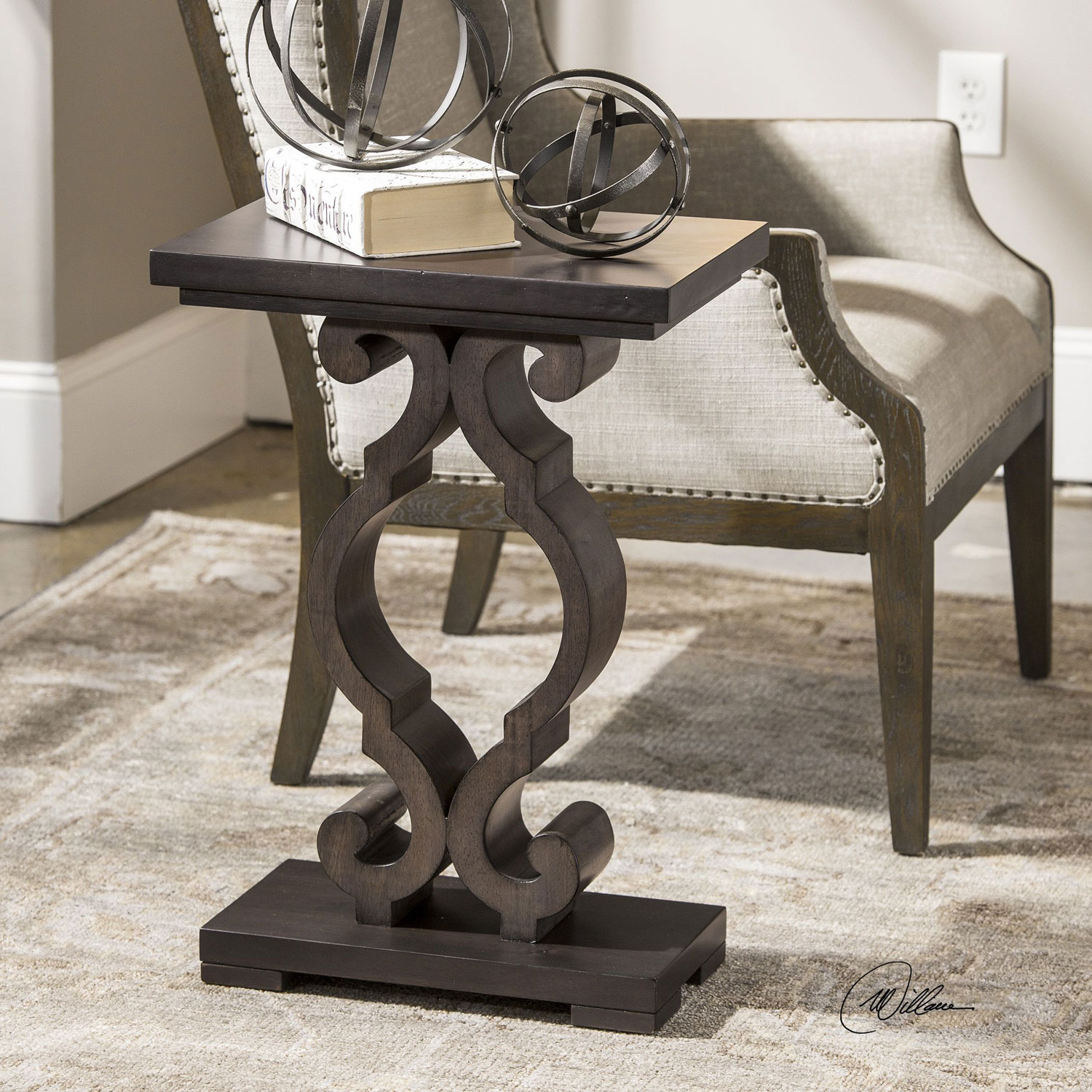 uttermost parina ebony accent table bellacor blythe hover zoom drop leaf dining octagon side modular furniture silver metal console old coffee glass decor mirrored hall leather