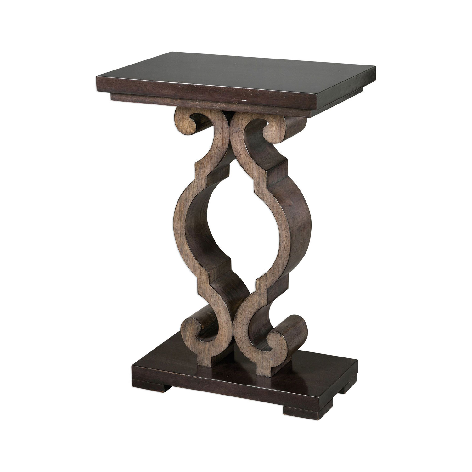 uttermost parina ebony accent table bellacor blythe hover zoom silver metal console bedside cloth maritime pendant small red end west elm owl lamp narrow cabinet trestle bench