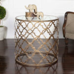 uttermost quatrefoil end table wood accent three piece set mirrored pedestal rattan cool bar solid tables with storage winsome timmy moroccan tray ikea childrens solutions old oak 150x150