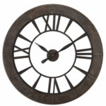 uttermost ronan dark rustic bronze wall clock bellacor asher blue accent table hover zoom target side reclaimed gold drum legs mirror company diy plans decorative floor lamp 150x150