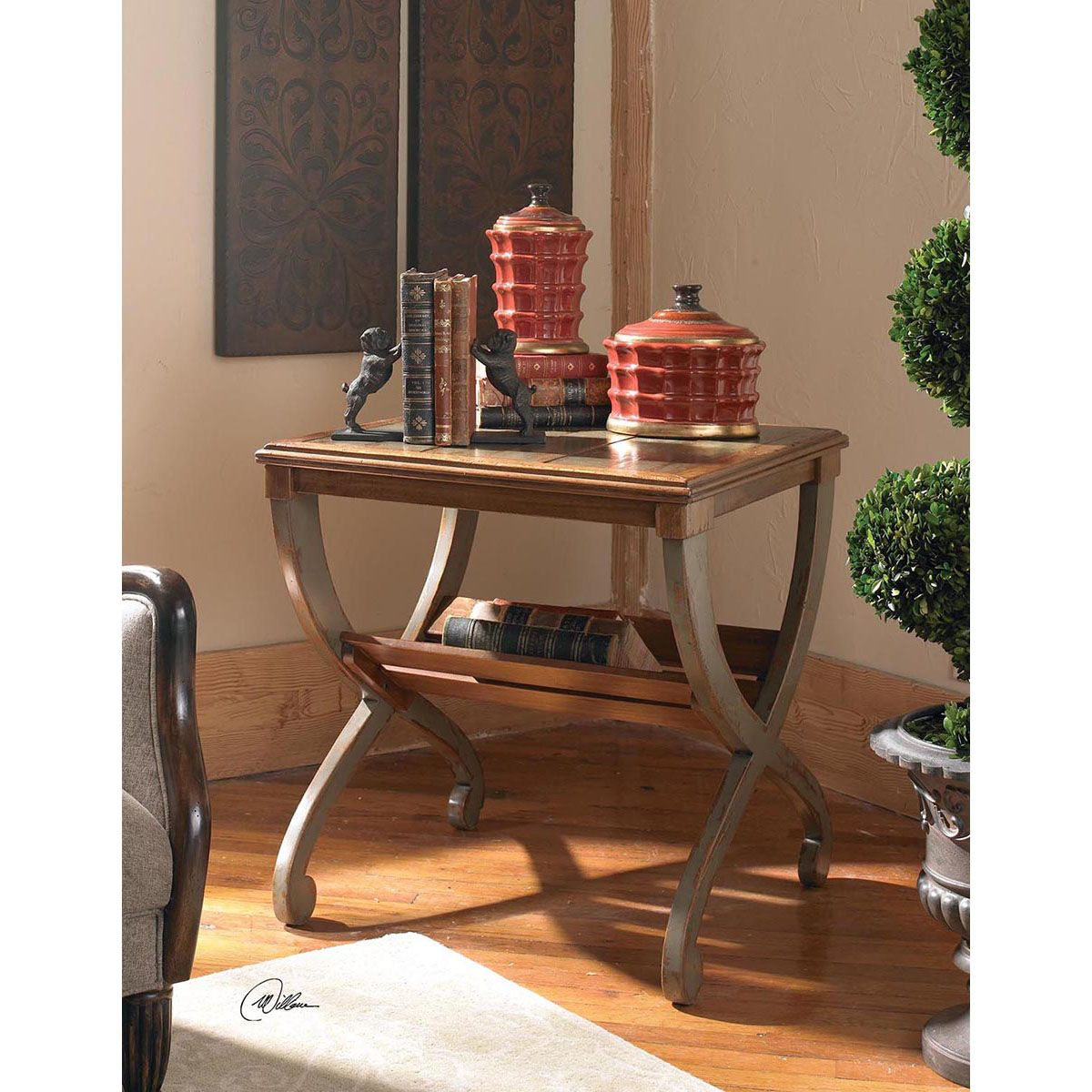 uttermost ronica solid wood accent table oak tables drum throne for guitar metal with glass top stool end ikea living room marble and steel coffee crystal lamps mosaic dining