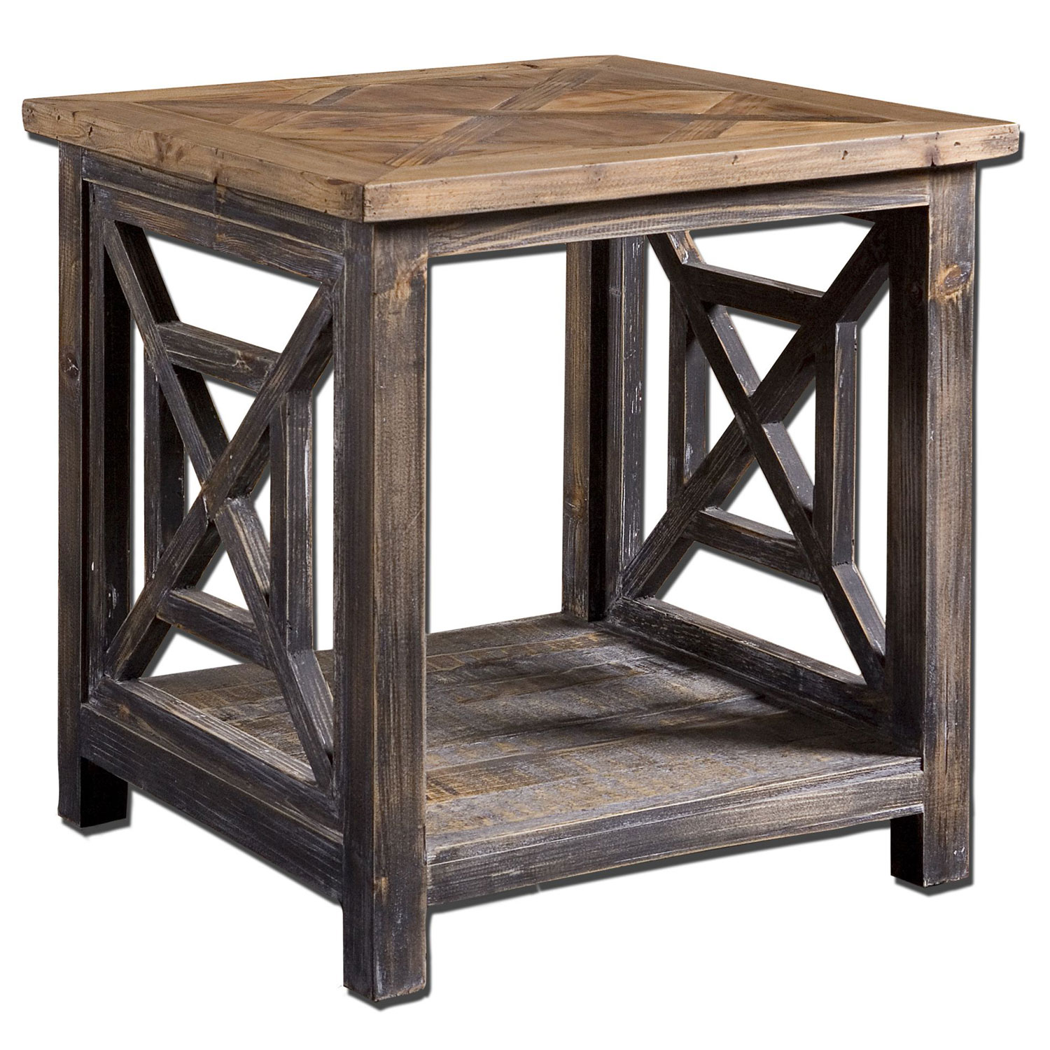 uttermost spiro fir wood end table bellacor blythe accent hover zoom cantilever patio umbrellas essential living room furniture dining sets for small spaces silver metal console