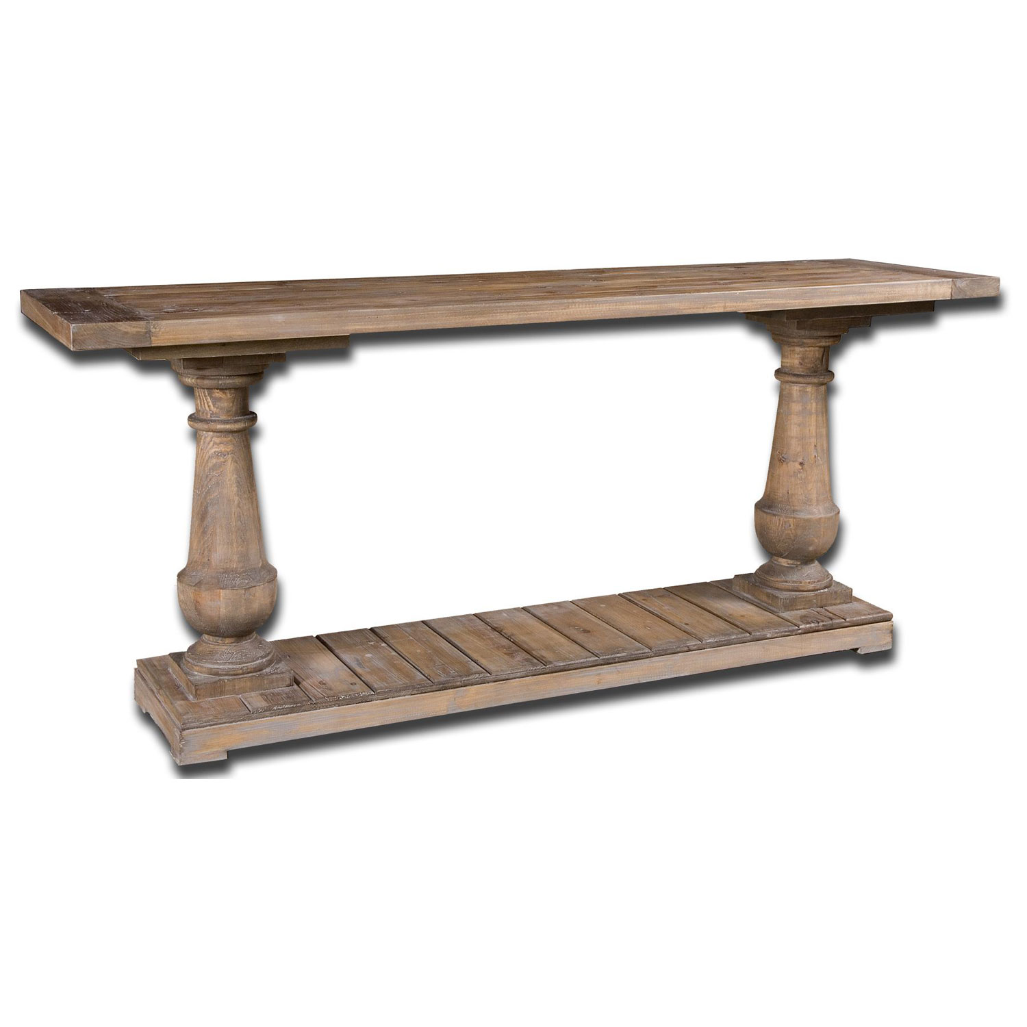 uttermost stratford fir wood console table bellacor rustic gray accent hover zoom west elm rocking chair sheesham dining room pieces threshold rugs prefinished solid hardwood