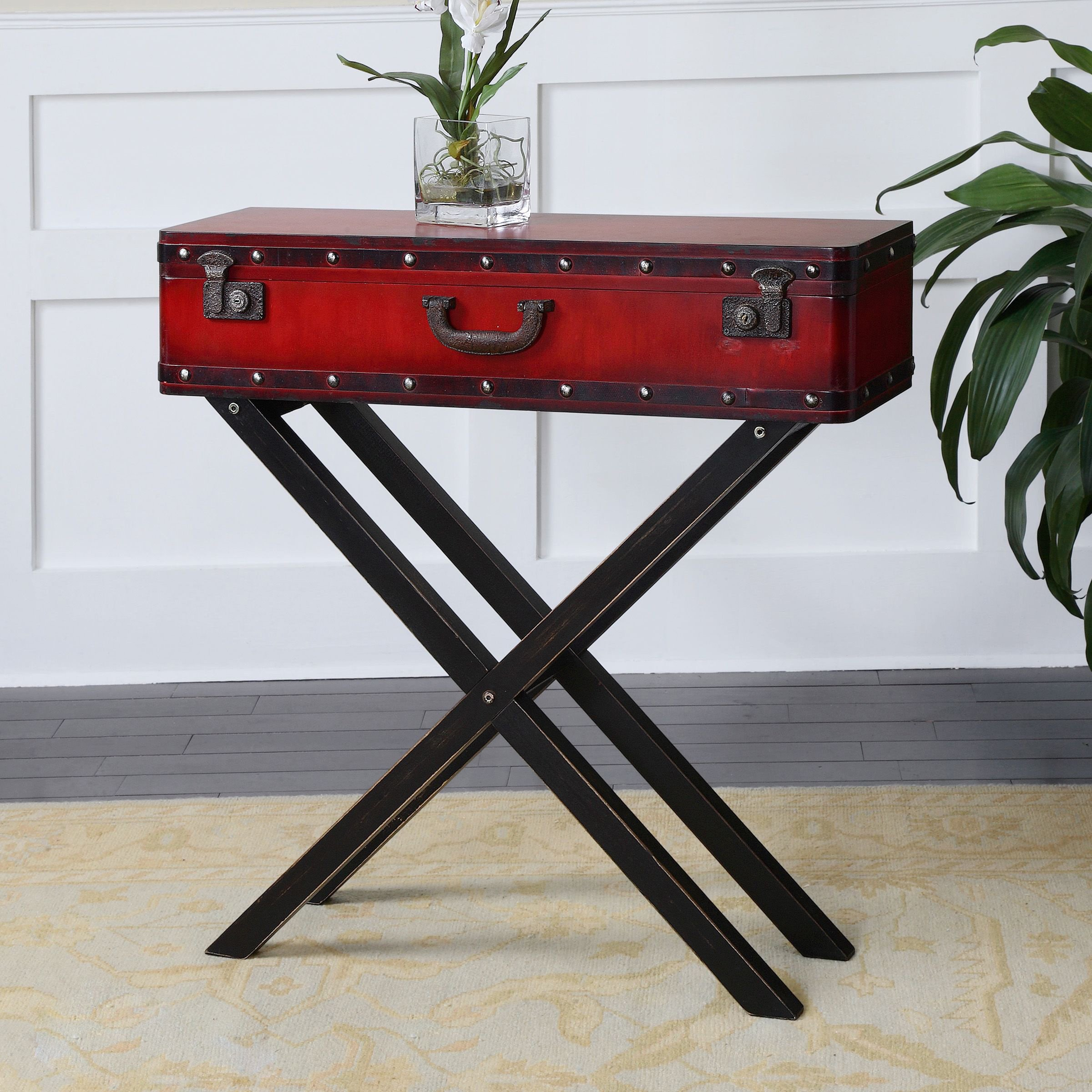 uttermost taggart console table free shipping today dice red accent better homes and gardens crossmill collection leg brackets rustic half moon furniture square plant stand green
