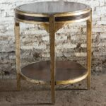 uttermost tasi champagne silver leaf accent table gold small grey lamp metal console round nest mudroom storage units brown wicker patio side hayden furniture inch outdoor 150x150
