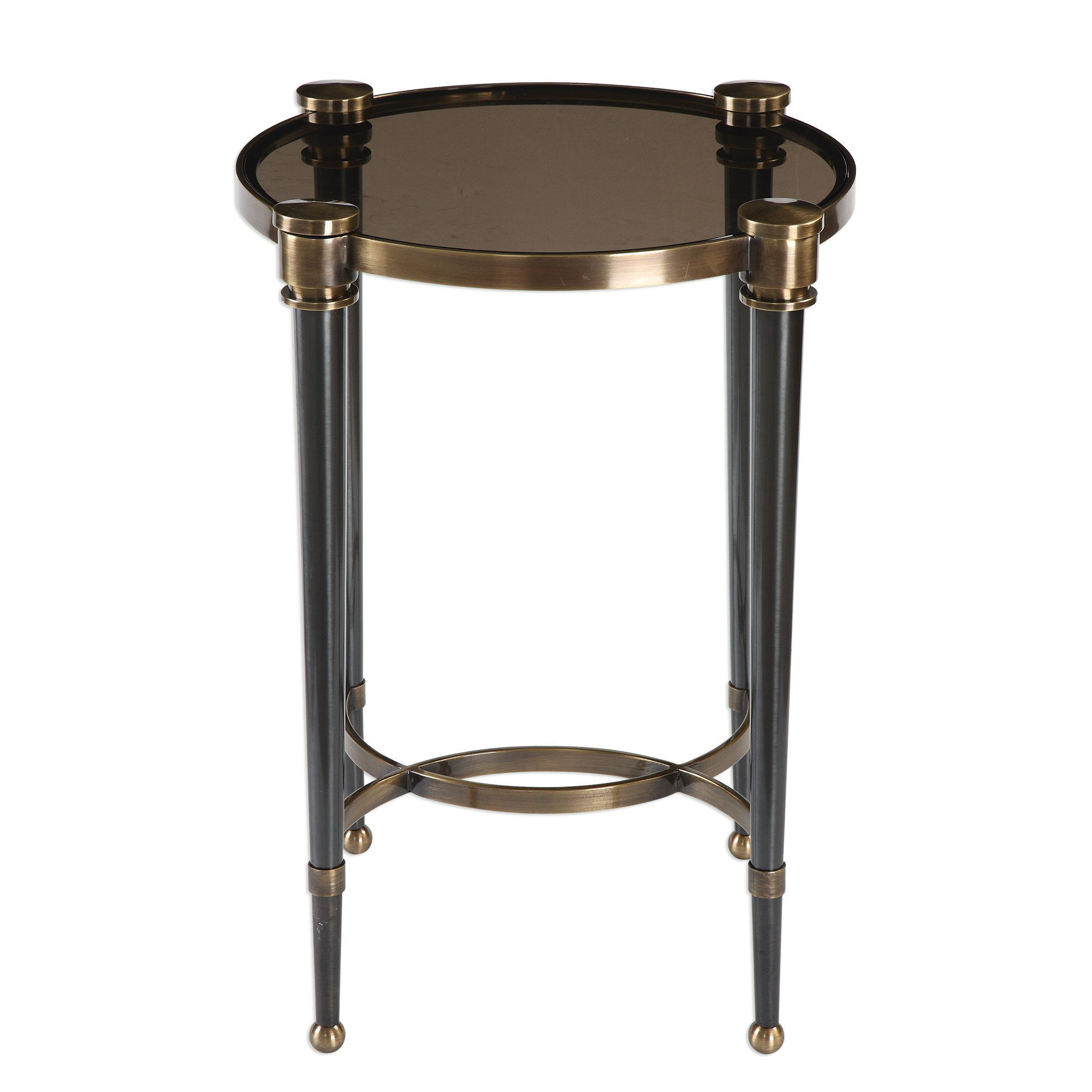 uttermost thora brushed black accent table free shipping rubati today tiffany shades drink long runner rugs rustic wood coffee market umbrella stand blown glass chandelier gold