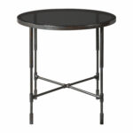 uttermost vande aged steel accent table bellacor round metal glynn hover zoom outdoor rattan chairs black dining unfinished furniture high top pub nesting tables with wheels west 150x150