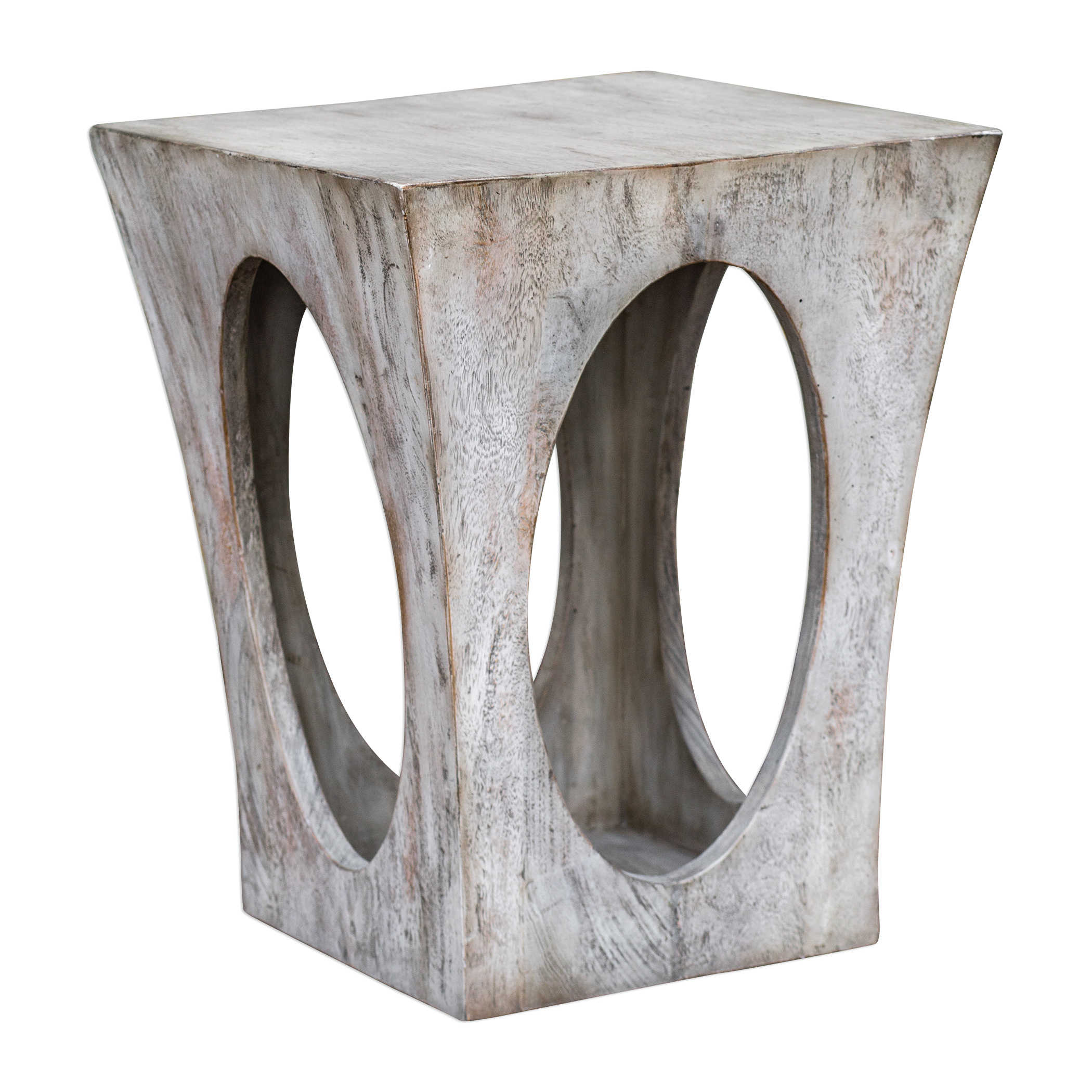 uttermost vernen aged white accent table wood placemats for round metal unusual tables modern sideboard side with umbrella hole barn doors house gold ikea cream linen tablecloth