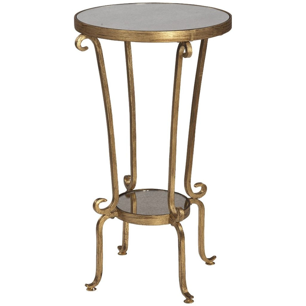 uttermost vevina accent tables contemporary benjamin rugs gold table antiqued metal and wood round front porch bench inch antique pedestal ethan allen dining chairs bedroom night