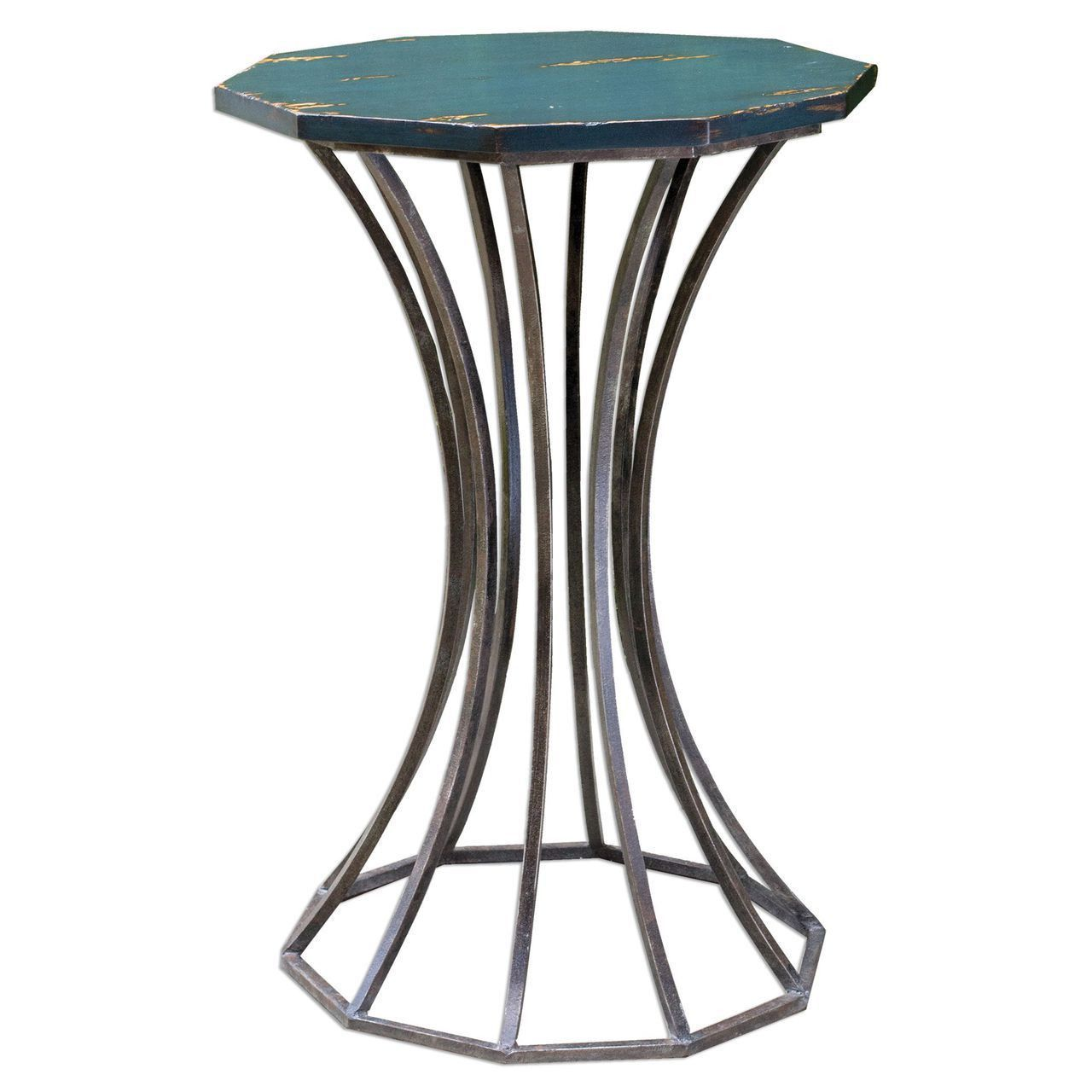 uttermost vika navy blue accent table products reclaimed wood coffee narrow patio modern console end tables outdoor sofa white lamp base black glass target threshold furniture