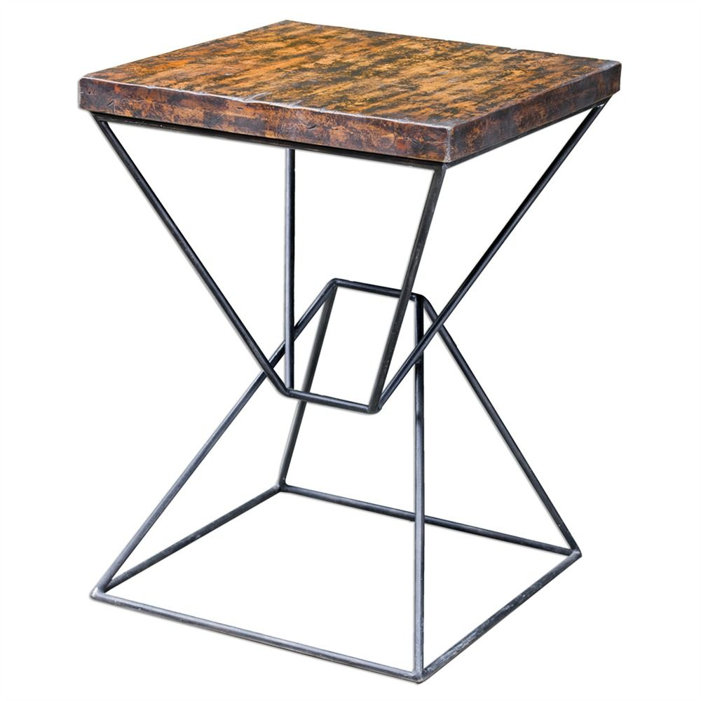 uttermost weathered black accent table yellow tables washers marble bistro rustic white console hampton bay chair cushions diy legs ideas patio umbrellas octagon side furniture