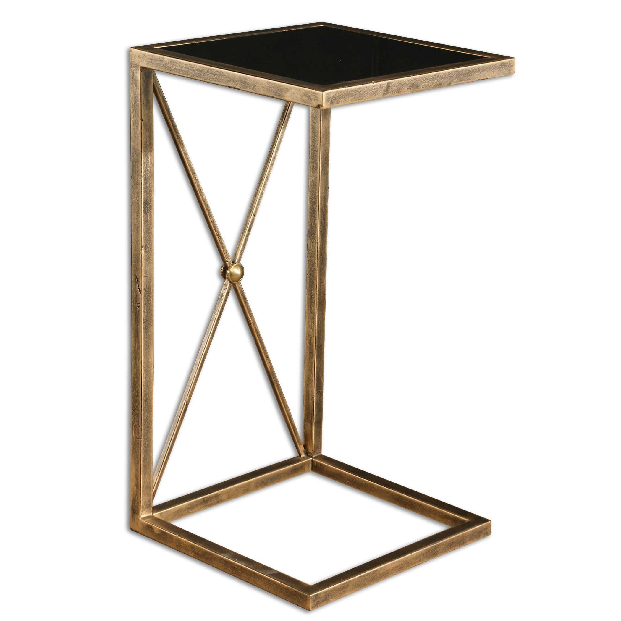 uttermost zafina gold side table free shipping today rubati accent triangle target dining set wooden trestle sideboard black farmhouse home furniture tables edmonton bedside cover
