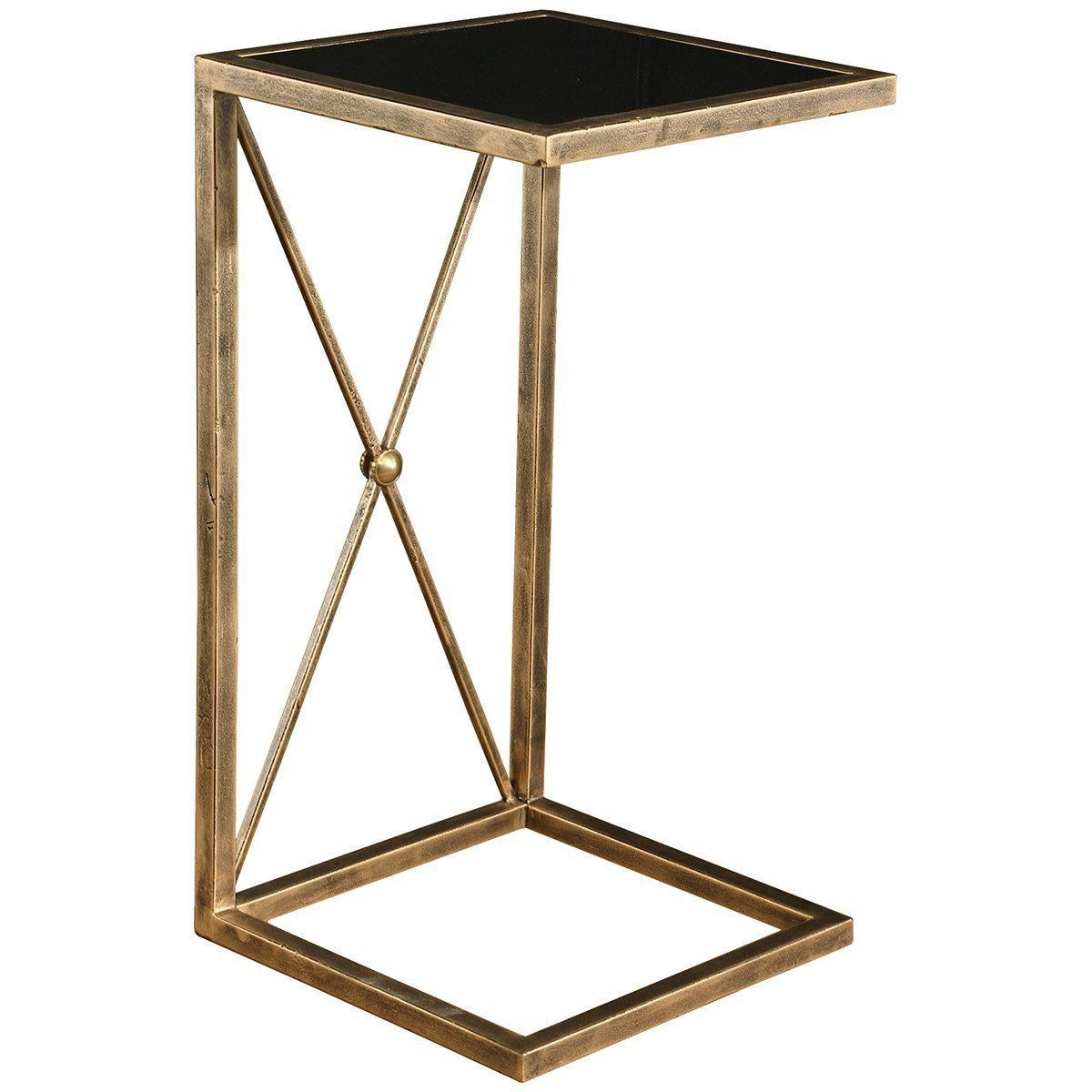 uttermost zafina gold side table products duke accent pottery barn homesense lamps west elm desk metal door threshold round glass nest tables tiny corner outdoor coffee with ice