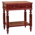 uttermost zilla vintage red side table andson accent wood products from authorized wrought iron occasional tables small glass cocktail outdoor furniture canberra stein world slim 150x150