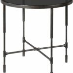 vande aged steel accent table from uttermost coleman furniture laton mirrored kitchen antique side christmas linen tablecloths dining room linens black marble blue and white 150x150