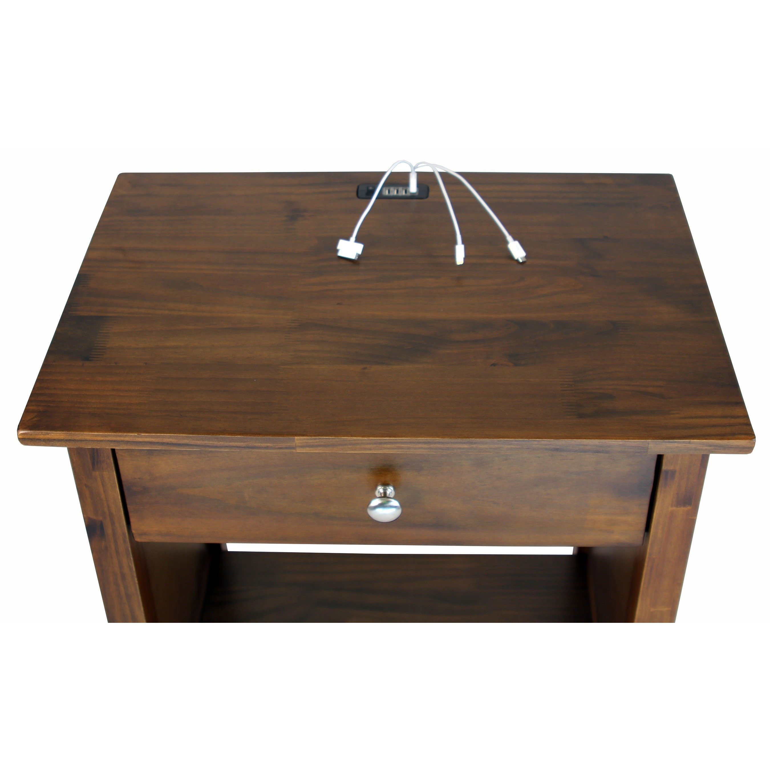 vanderbilt nightstand end table with usb ports free accent port shipping today target console kidney bean shaped long white side wood kitchen and chairs ott coffee seat for drums