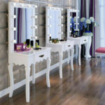 vanity makeup dressing table set hollywood illuminated mirror mirrored accent details about theatre hair salon cream colored coffee and end tables battery operated house lamps 150x150