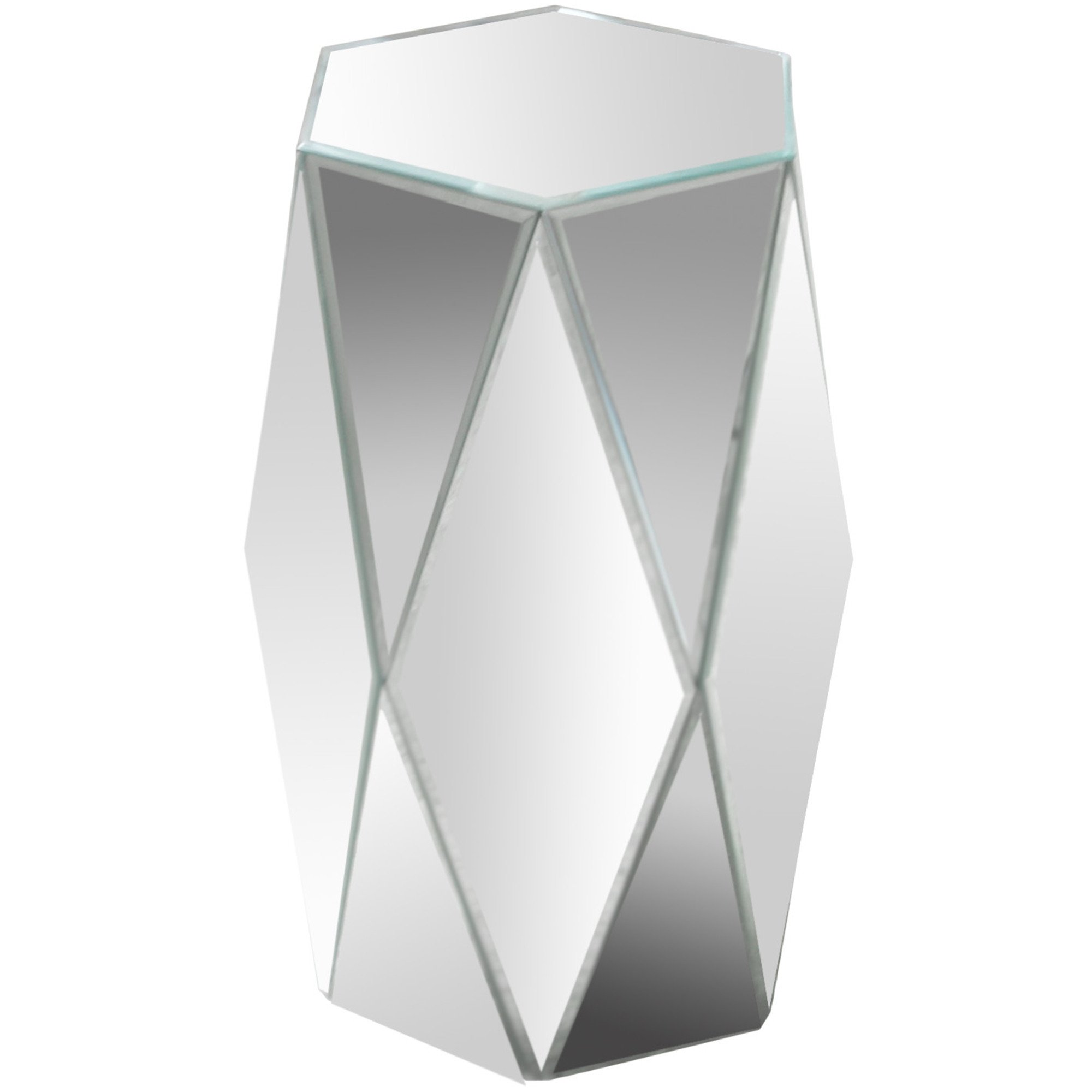varaluz casa hexagonal mirrored accent table white patio lounger side designs ethan allen sofa modern desk lamp black metal end beautiful coffee tables cool nightstands small tall