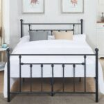 vecelo metal beds victorian platform frames with queen full twin size headboard style accent table free shipping today gold round coffee pottery barn white dishes all modern side 150x150