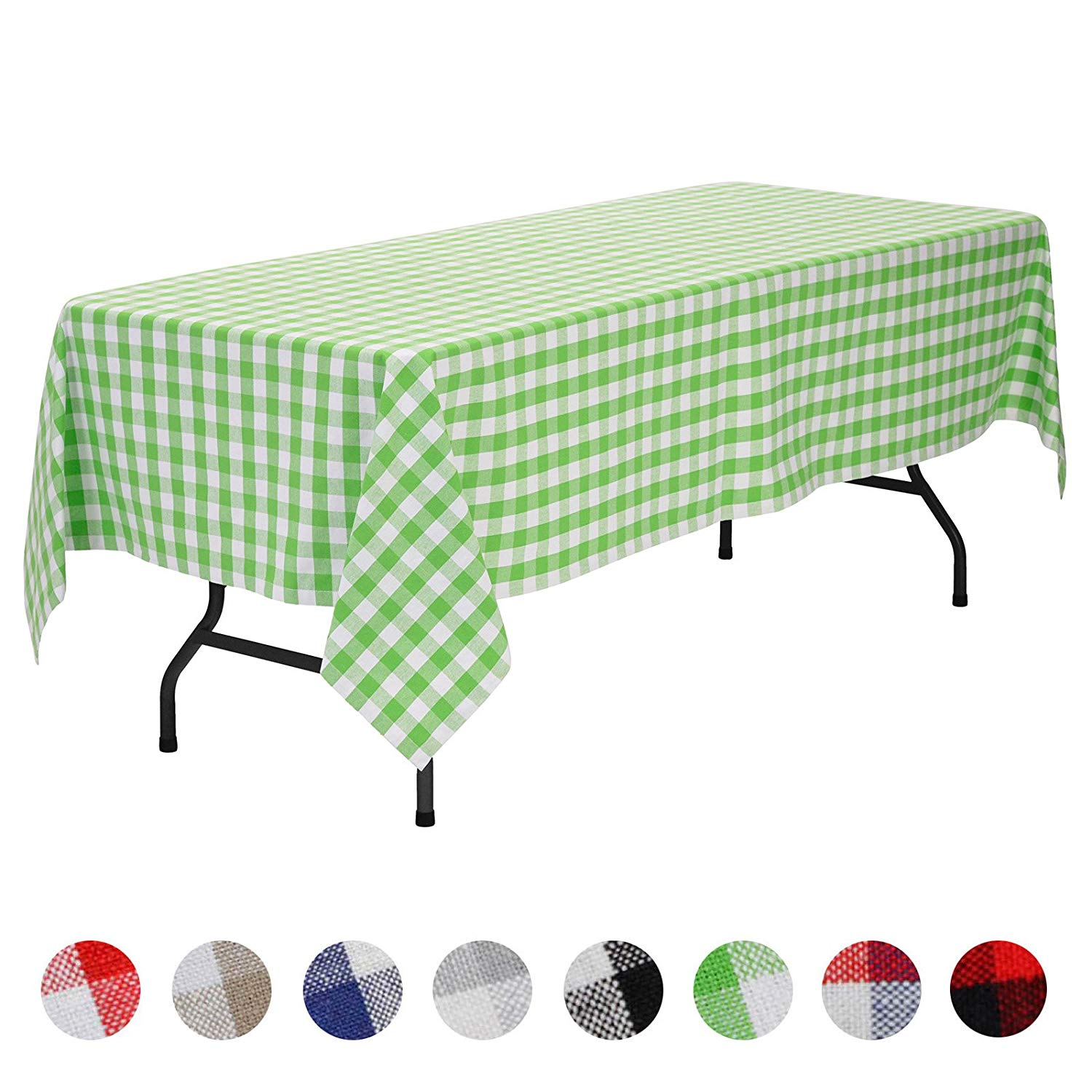 veeyoo rectangular plaid check tablecloth gingham accent table cotton for home kitchen party indoor outdoor use inch seats people koncept lighting bunnings swing set diy coffee