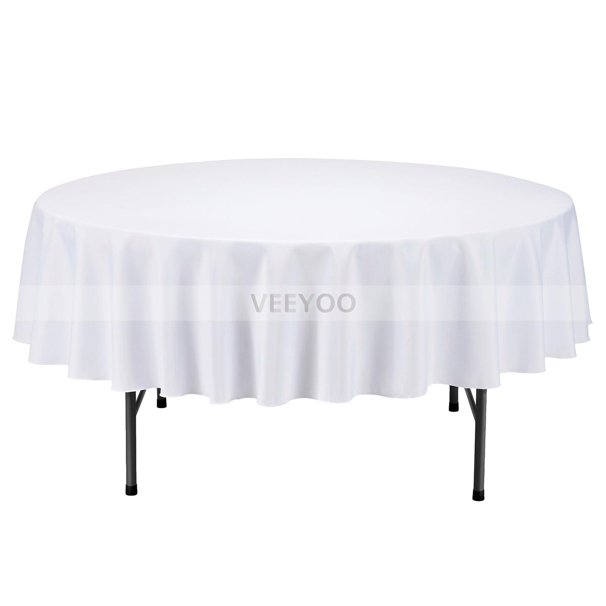 veeyoo round tablecloth linen great weddings events party choose accent mosaic tile bistro table and chairs antique serving west elm outdoor furniture low coffee with drawers