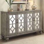 velika weathered gray finish console table casye accent lightbox ikea play glass nesting tables set ashley furniture bar height small perspex side west elm chandelier marble like 150x150